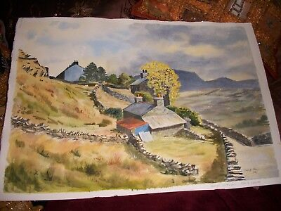 Original watercolour, Bright Interval, Tan Y Grisiau, signed, unmounted