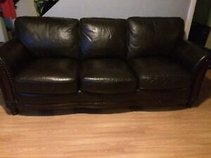 Leather couch + love seat