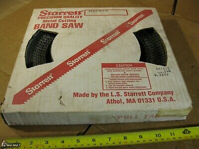 Starrett 10089 Metal Cutting Band Saw Blade 100ft 34 0.032 3 Tpi Sk Flex-back