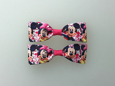 Mini Minnie and Mickey Mouse Hair Bows with Alligator Clips multi color (Mini Mouse Bow)