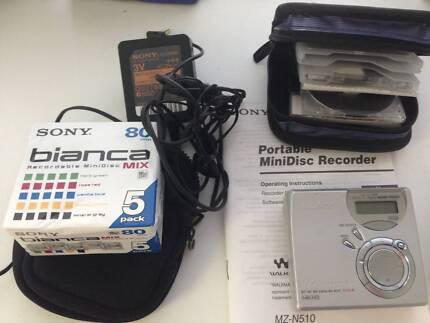 Sony Portable minidisc recorder