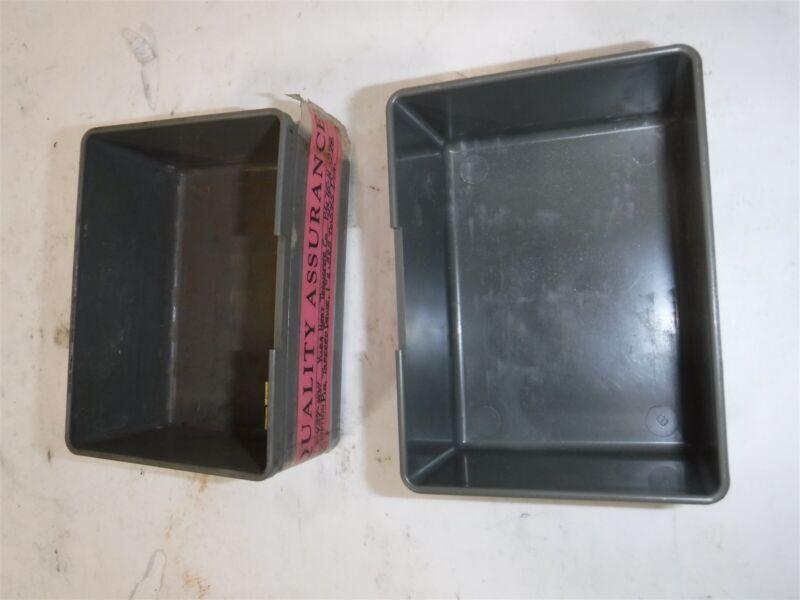 "USED LOT 92 VIDMAR 4"" x 3"" x 2"" Grey Plastic Box Bin Drawer BN 20 04 B"