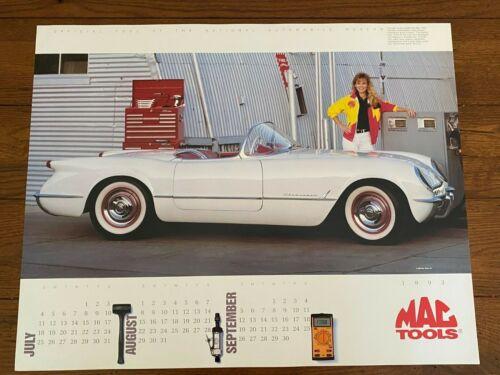 1993 MAC Tools Calendar Poster 1953 Corvette Sexy Girl Chevrolet Chevy