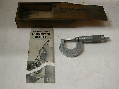 Vintage Brown Sharpe 13 Outside Micrometer Caliper 1