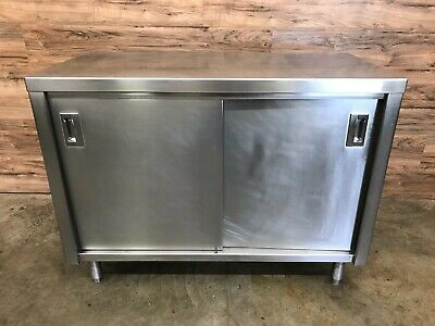Stainless Steel Cabinet With Sliding Doors 48 W X 23 D X 36 H