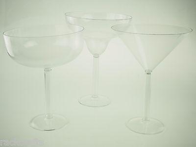 Plastic Margarita Cups (JumboGiantLarge Plastic Champagne Martini Margarita Cups Glass Drink)