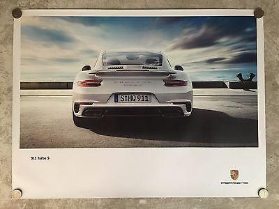 2015 Porsche 911 Turbo S Coupe Showroom Advertising Sales Poster RARE!! L@@K