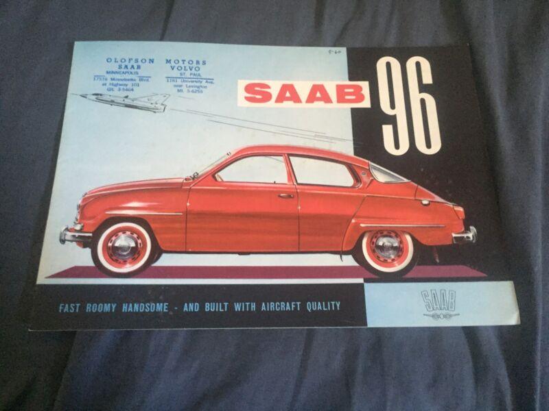 1961 SAAB 96 Color Brochure Catalog Prospekt