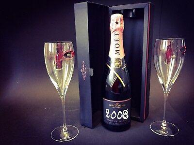 Moët Chandon Vintage Rosé 2013 Champagner 0,75l 12,5% Vol + 2 Riedel Moët Gläser