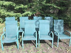 Outdoor patio slingback chairs