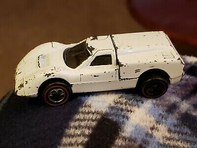 1967 Vintage Hot Wheels Redline Ford J-Car White
