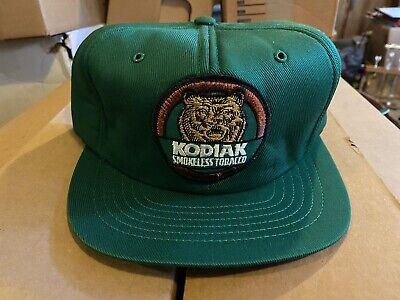 Original Vintage 80's Kodiak Tobacco Patch Trucker Hat Cap Swingster USA 🇺🇸