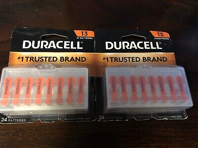 48 pc Duracell Hearing Aid Batteries Size 13 Expire 2022 FRESH ()