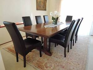 10 LEATHER DINING CHAIRS $90 each Bowral Bowral Area Preview
