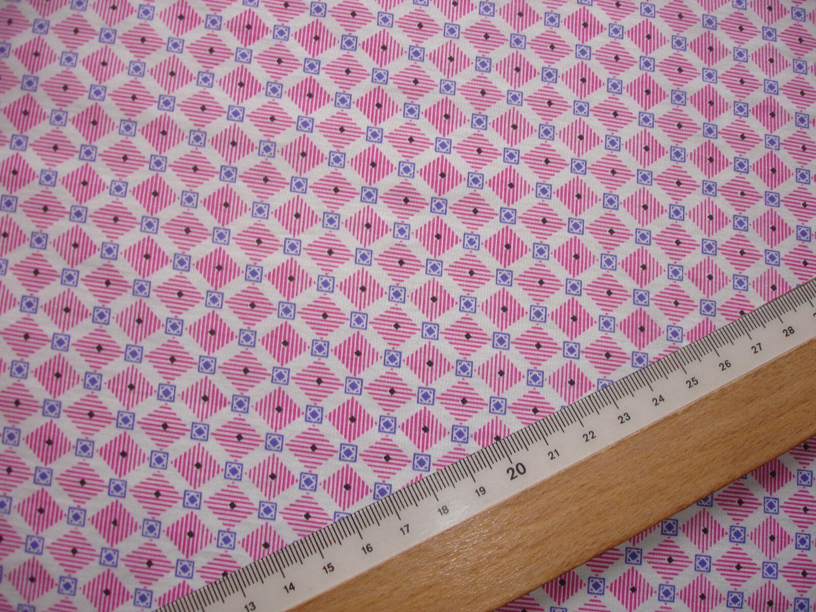 1 Lfm Baumwollbatist 2,93€/m²  weiß, rot, blau 150cm breit  MF29