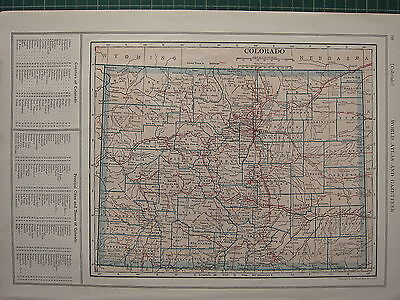 1926 MAP ~ COLORADO PRINCIPAL CITIES & TOWNS OTERO LOGAN CANON CITY