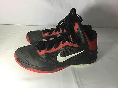 on sale 1f743 f8bb4 Nike Zoom Men s Basketball Shoes Size 8 (BLACK SILVER RED) 536841-001