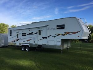 Sand piper fifth wheel toy hauler , generator