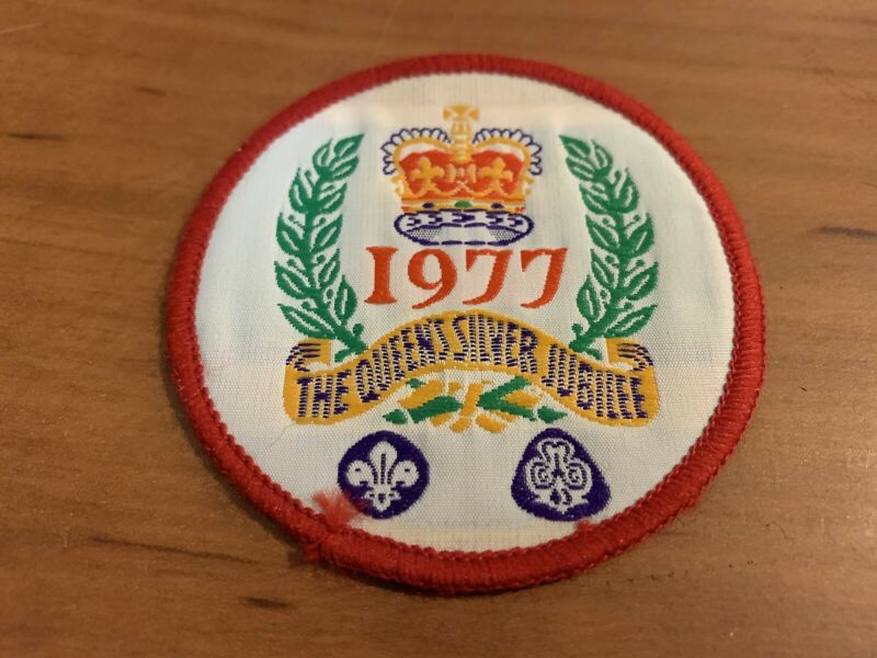 1977 The Queen's Silver Jubilee Patch, UK Scout Association & Girl Guides Assn