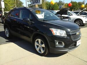 2014 CHEVROLET TRAX LTZ- LEATHER HEATED SEATS, REAR VIEW CAMERA,