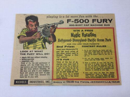 1959 toy machine gun cartoon ad ~ F-500 FURY