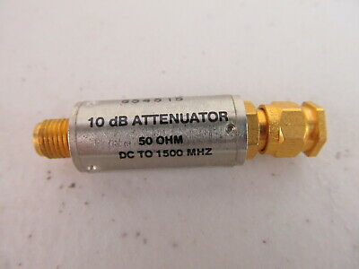 Mini-circuits Sat-10 10db Rf Attenuator Pad 50 Ohm Dc To 1500 Mhz