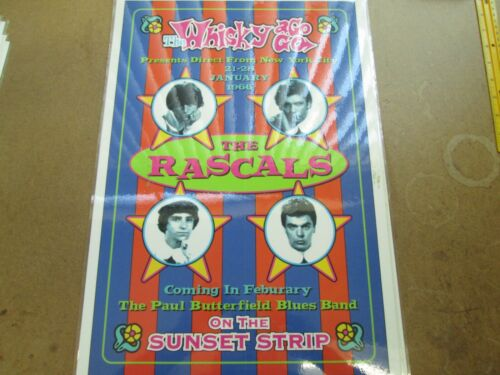 THE RASCALS WHISKEY A GO GO POSTER 1966