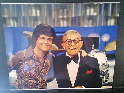 Donny Osmond Three 8 X 10 Color Photos, with wife, headshot & with George Burns