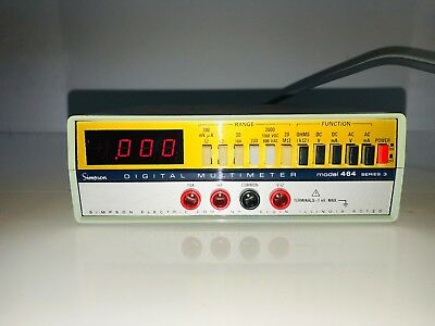 Simpson Digital Multimeter Model 464 Series 3