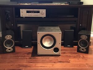 Polk Audio RTi A1 Bookshelf speakers and PSW10 Subwoofer
