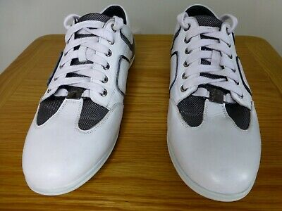 Versace collection cas white black grey mens trainers EU41 UK7.5 quality shoes