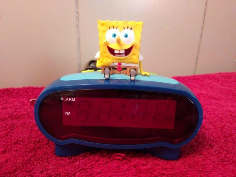 SpongeBob SquarePants LED DIGITAL Alarm Clock - Tested and Works Perfectly!