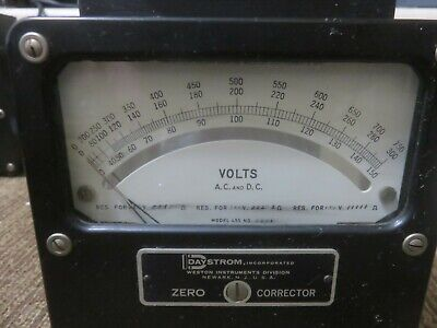 Weston Ac Dc Volt Meter Model 455