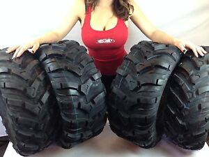2 FRONT 25-8-12 & 2 REAR 25-10-12 ATV CST ANCLA TIRES