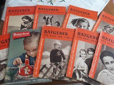 RATGEBER FÜR HAUS UND FAMILIE - SAMMLUNG Jahrgang 1954 / 9Hefte