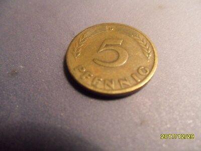 """5 Pfennig aus dem Jahr """"1949 D"""""""
