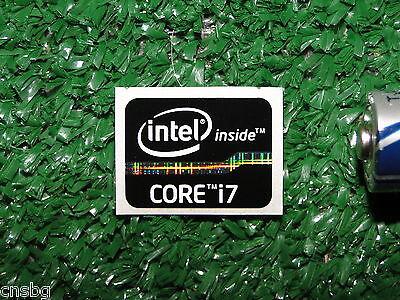 NEW! Intel Core i7 Inside Black 15.5 x 21mm Case Badge Sticker ( USA Seller! )