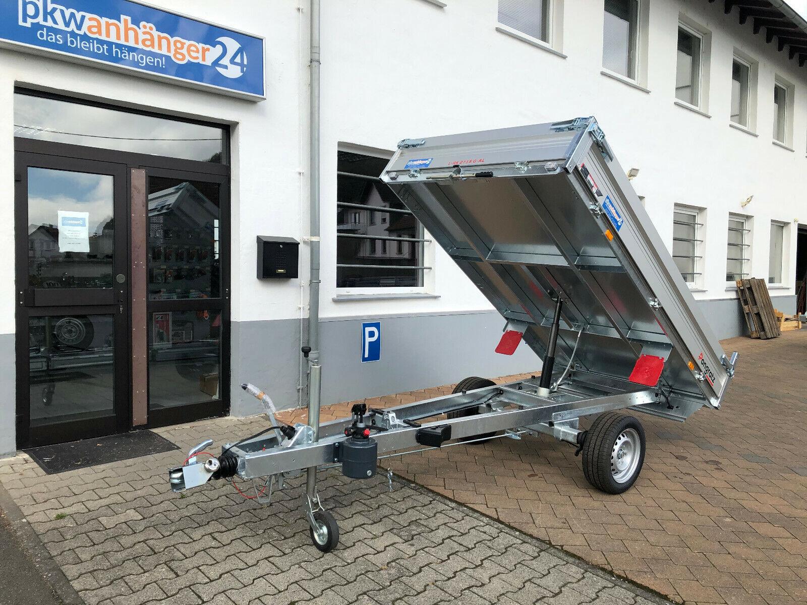 NEU Pongratz Anhänger LRK2715 Kipper Rückwärtskipper Alu 267x151 15001800kg