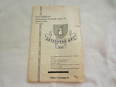 1965-66 FA CUP GATESHEAD v HULL CITY