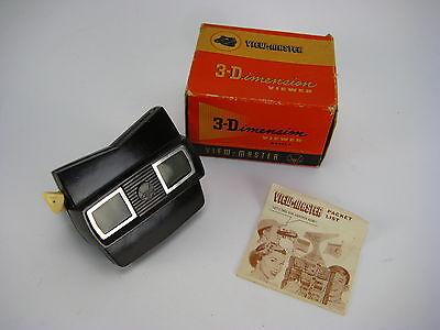 Vintage View-Master 3-Dimension Viewer Model E in Original Box