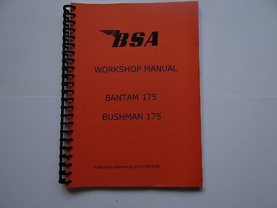 BSA Bantam 175 and Bushman 175 Workshop Manual