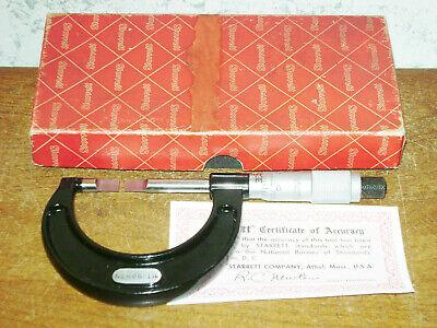 Starrett 0-1 Inch Blade Micrometer No 486 W Box
