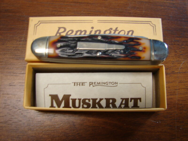 Vintage 1988 Remington Muskrat Bullet Knife R4466 New in Box Made in USA