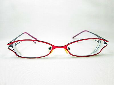 Unbranded Burgundy Women's Metal Eyeglass Frames Glasses
