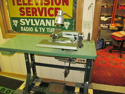Maier 241 12 Blind Stitch Industrial Sewing Machine Table Motor Very Nice