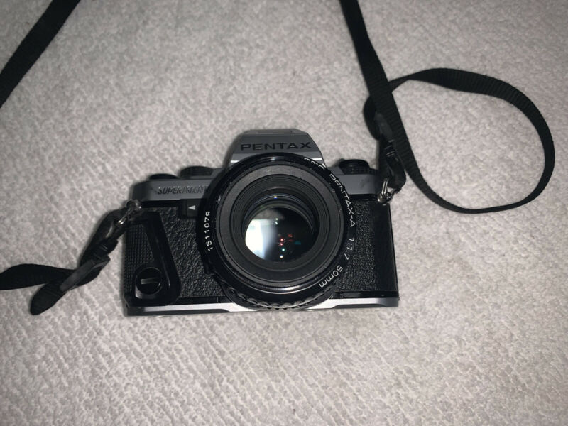 Pentax Super Program 35mm SLR Film Camera w/ Pentax-A 50mm f1.7 Lens