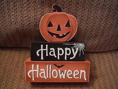 loween Blocks w Pumpkin - Rotates! (Blocks Happy Halloween)