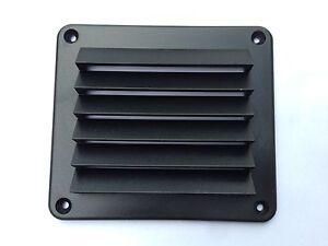 MARINE LOUVRED AIR VENT 125MM X 140MM BLACK PLASTIC /BOAT /YACHT/CARAVAN/R/V VAN