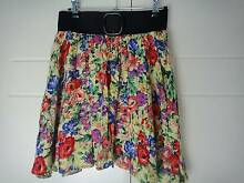 SIZE 10-12 FLORAL SKIRT WIDE ELASTIC WAISTBAND Collingwood Park Ipswich City Preview
