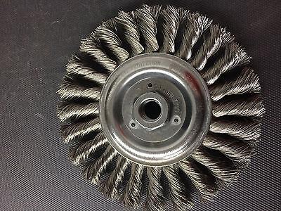 1 Count Weiler 6 Standard Twist Wire Wheel Brush Stainless Steel 08346 58